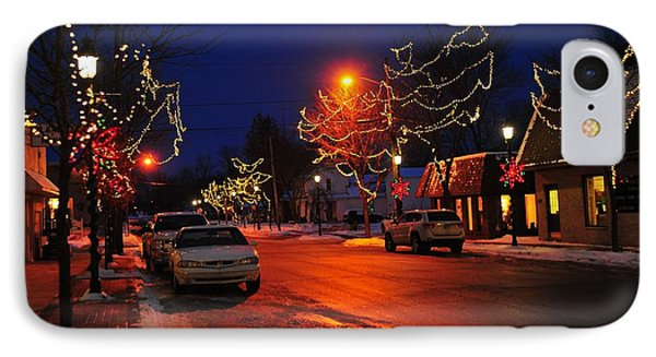 Clare Michigan At Christmas 3 IPhone Case by Terri Gostola
