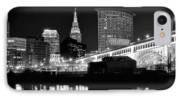 Cleveland Skyline IPhone Case by Frozen in Time Fine Art Photography