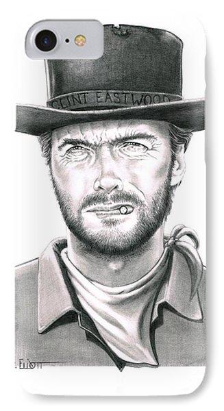 Clint Eastwood IPhone Case by Murphy Elliott