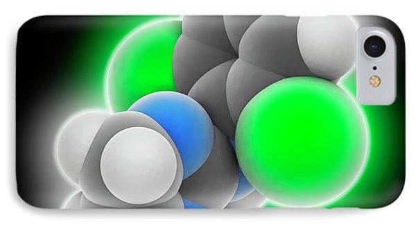Clonidine Drug Molecule IPhone Case