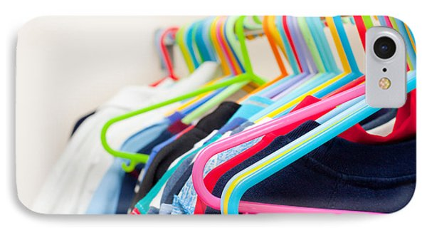 Clothes Hangers IPhone Case by Tom Gowanlock