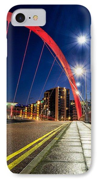 Clyde Arc Squinty Bridge Phone Case by John Farnan