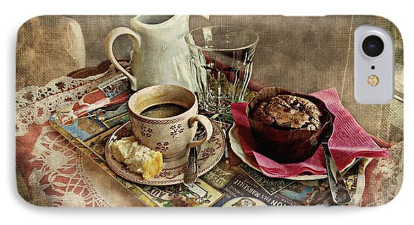 Coffee Time Phone Case by Barbara Orenya