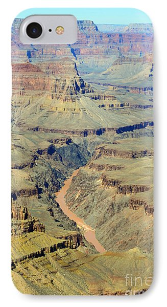 Colorado River Flowing Red Through Inner Gorge Grand Canyon National Park Phone Case by Shawn O'Brien