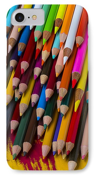 Colored Pencils  IPhone Case by Garry Gay