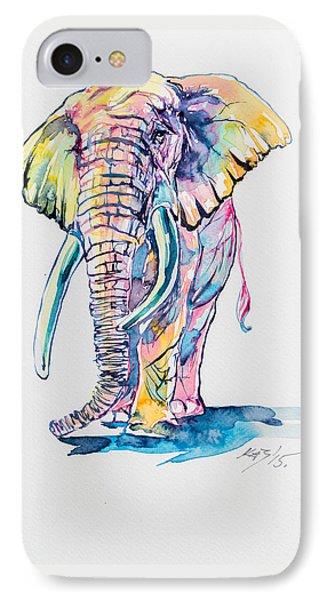Elephant iPhone 7 Case - Colorful Elephant by Kovacs Anna Brigitta