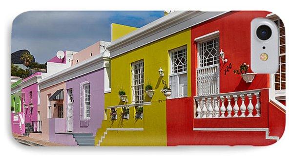 colourful buildings in Bo-Kaap Phone Case by Juergen Ritterbach