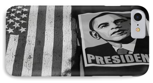 Commercialization Of The President Of The United States Of America In Black And White  Phone Case by Rob Hans