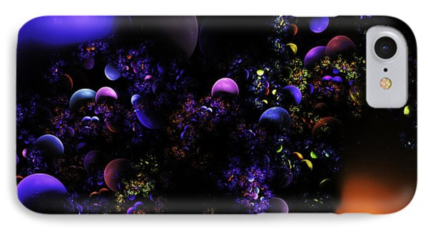 Computer Generated Spheres Abstract Fractal Flame Phone Case by Keith Webber Jr