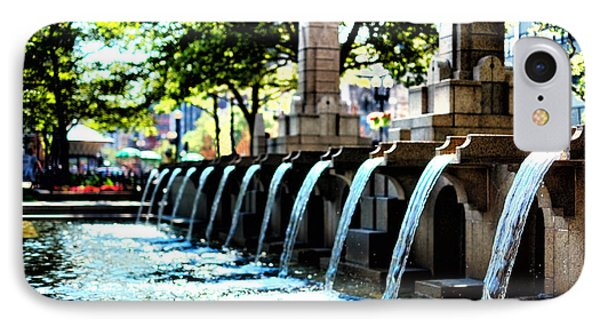 IPhone Case featuring the photograph Copley Square Fountain In Boston by Boris Mordukhayev
