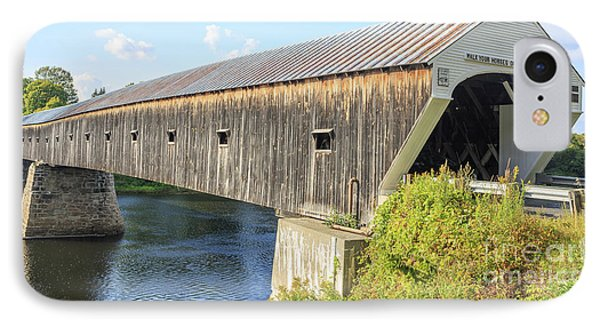 Cornish-windsor Covered Bridge  IPhone Case by Edward Fielding
