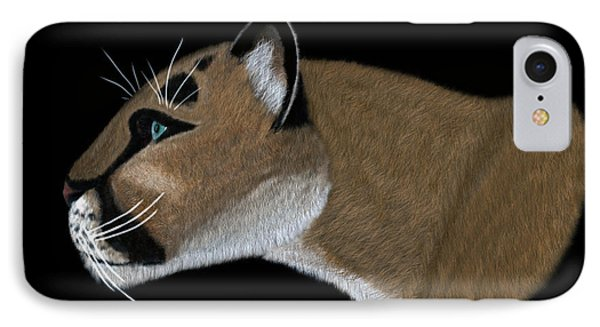 Cougar Portrait IPhone Case by Walter Colvin