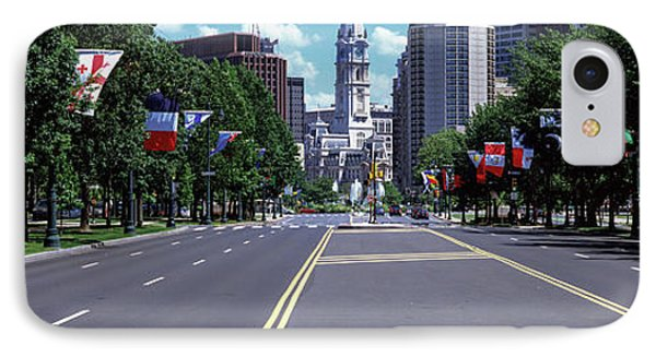 Country Flags On Trees Along Martin IPhone Case by Panoramic Images