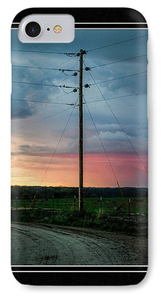 Country Sunset IPhone Case by Charles Feagans