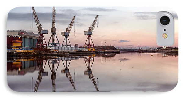 Cranes On The Clyde  Phone Case by John Farnan