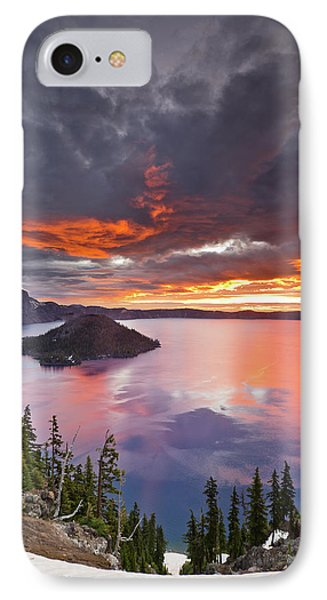 Crater Lake Dawn Phone Case by Greg Nyquist