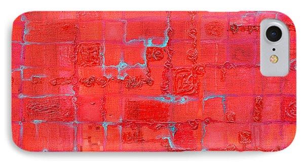 Crimson Query Phone Case by Regina Valluzzi