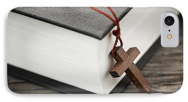 Cross And Bible IPhone Case by Elena Elisseeva