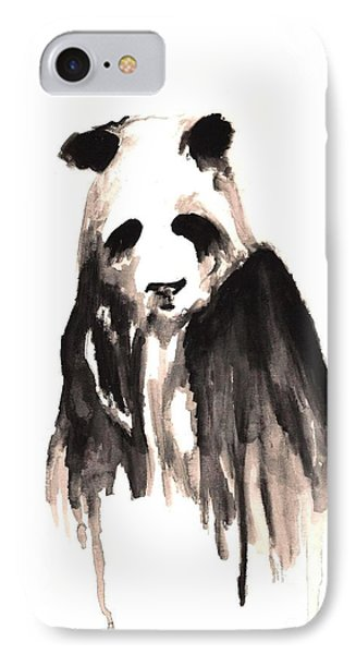 Crying Panda IPhone Case by Michael Grubb