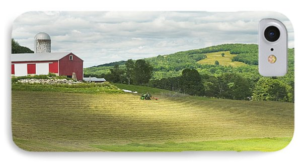 Cutting Hay In Summer On Maine Farm IPhone Case by Keith Webber Jr