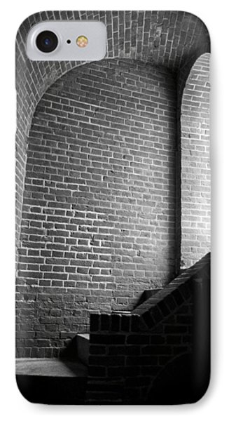 Dark Brick Passageway IPhone Case by Frank Romeo