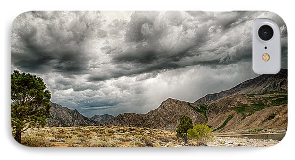 Dark Skies At Grant Lake IPhone Case by Cat Connor