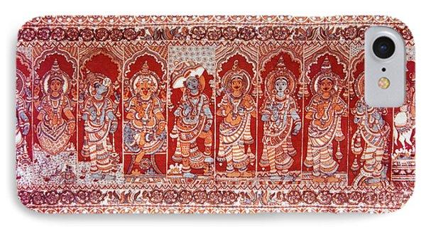 IPhone Case featuring the painting Dasavatharam Of Lord Vishnu by Ragunath Venkatraman