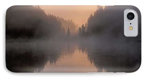Dawn On The Yellowstone River Phone Case by Sandra Bronstein