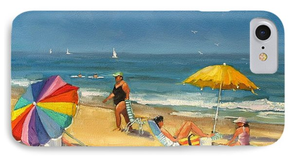 Day At The Beach IPhone Case by Laura Lee Zanghetti