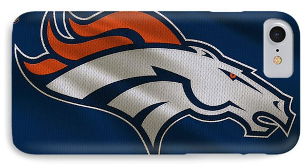 Denver Broncos Uniform IPhone Case by Joe Hamilton