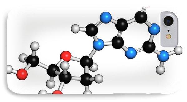 Deoxyguanosine Nucleoside Molecule IPhone Case
