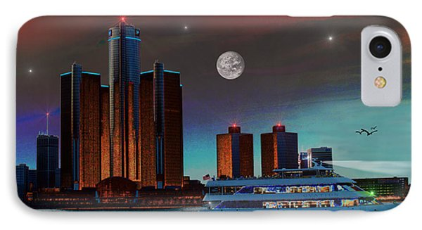 Detroit Skyline IPhone Case by Michael Rucker
