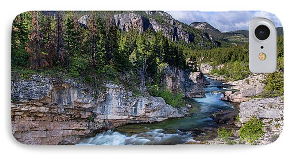 Devils Glen On The Dearborn River IPhone Case by Chuck Haney