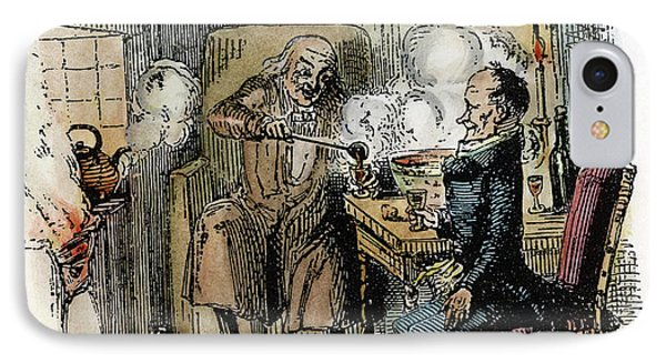 Dickens Christmas Carol, 1843 IPhone Case by Granger