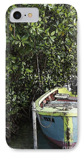 IPhone Case featuring the photograph Docked By The Mangrove Trees by Lilliana Mendez