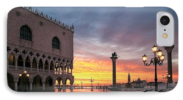 Doges Palace At Sunrise Venice Italy IPhone Case by Matteo Colombo
