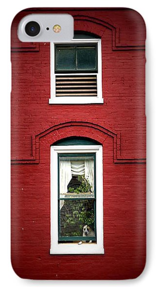 Doggie In The Window IPhone Case by Laurie Perry