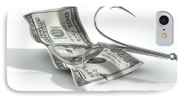 Dollar Banknote Baited Hook IPhone Case