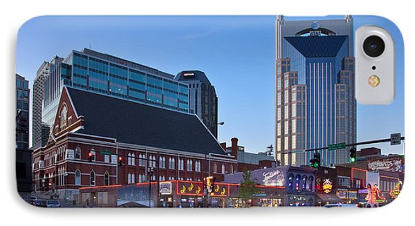 Downtown Nashville IPhone Case by Brian Jannsen