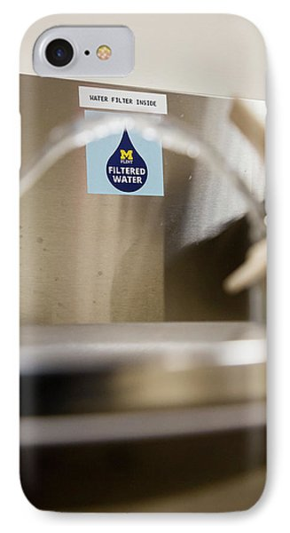 Drinking Water Filtration Sign IPhone Case by Jim West