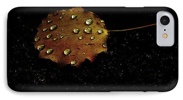 Drops On Autumn Leaf IPhone Case