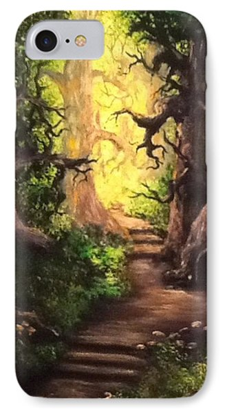 IPhone Case featuring the painting Druid Forest by Megan Walsh