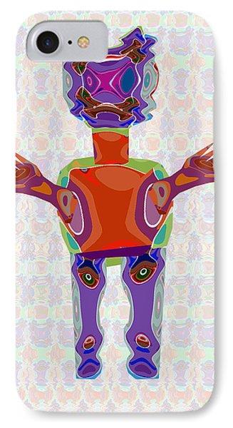 Duckelle Cartoon Character  Alien Monster Art Graphic Design Digital Complex Funny Comic Collage Col IPhone Case