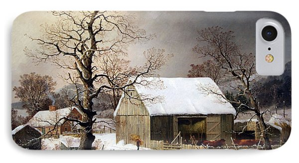 Durrie's Winter In The Country IPhone Case by Cora Wandel