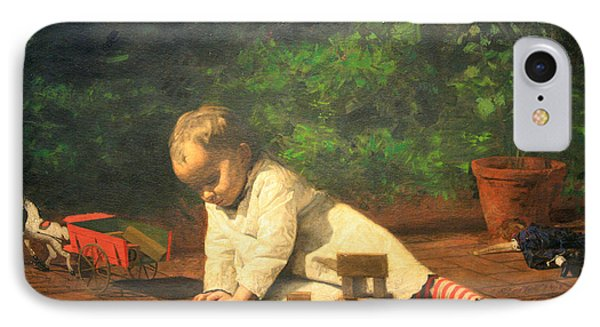 Eakins' Baby At Play IPhone Case by Cora Wandel