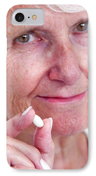 Elderly Woman With Medication IPhone Case