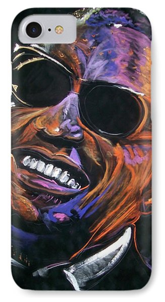 electric Ray Charles IPhone Case by Peter Suhocke