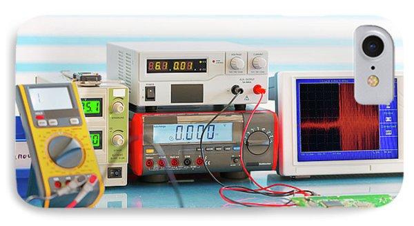 Electronic Measuring Instruments IPhone Case by Wladimir Bulgar