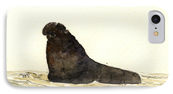 Elephant Seal IPhone Case by Juan  Bosco