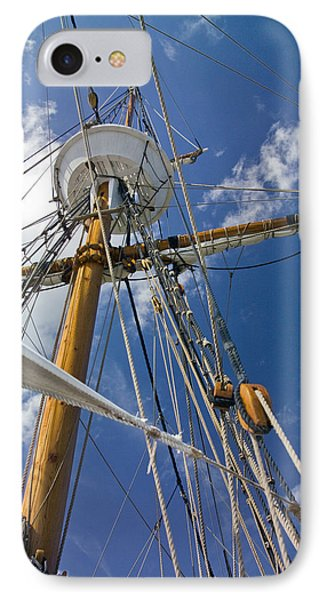 IPhone Case featuring the photograph Elizabeth II Mast Rigging by Greg Reed